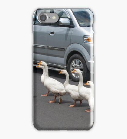 Pedestrians Crossing iPhone Case/Skin