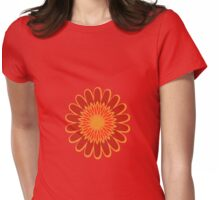 Red Sunflower Womens Fitted T-Shirt