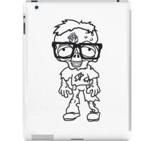 nerd geek streber freak hornbrille pickel spange zombie lustig gesicht kopf untot horror monster halloween  iPad Case/Skin