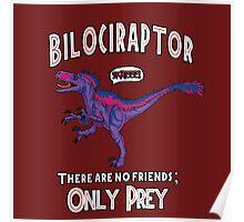 Bilociraptor - Text + Speech Poster