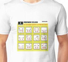 Pokemon Yellow: A Hard Day's Pikachu B&W Unisex T-Shirt