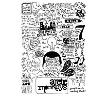 Arctic Monkeys Lyrics Photographic Print