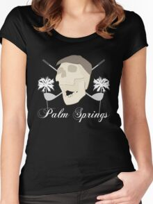 Palm Springs Elderly Golfing Community Adventure Fun Time Women's Fitted Scoop T-Shirt