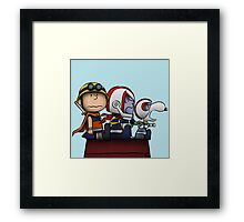 Snoopy Going In Space Framed Print