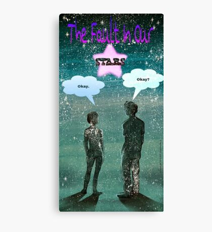 The Fault in our Stars edit Canvas Print