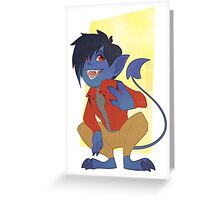 Chibi Nightcrawler Greeting Card