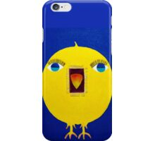 Yellow Bird with Lashes iPhone Case/Skin