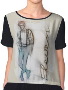 The Eleventh Doctor in Pencil Sketch Chiffon Top