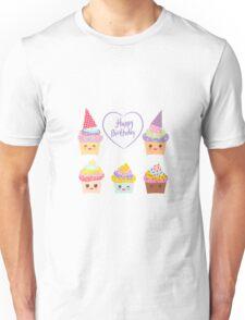 Birthday Card design with Cupcake  Unisex T-Shirt