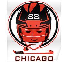 Chicago Hockey T-Shirt Poster