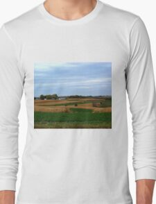 Autumn Wisconsin Farmland Long Sleeve T-Shirt