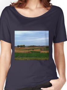 Autumn Wisconsin Farmland Women's Relaxed Fit T-Shirt
