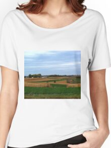 Autumn Wisconsin Farmland Women's Relaxed Fit T-Shirt