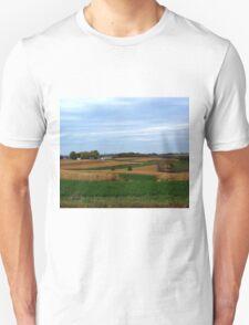 Autumn Wisconsin Farmland Unisex T-Shirt