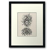 Flaming Lotus Heart - Evolve Love Framed Print