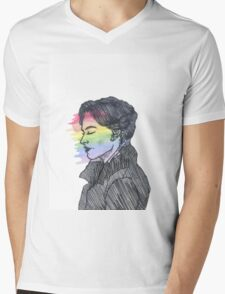 Irene Adler True Colors Mens V-Neck T-Shirt