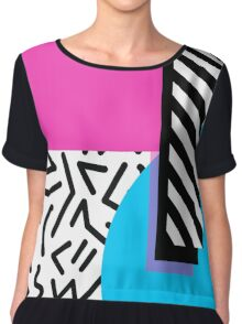 Colorful Retro Memphis Abstract Chiffon Top