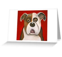 Winston the dog Greeting Card