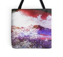 Starry Mountain Scene Tote Bag
