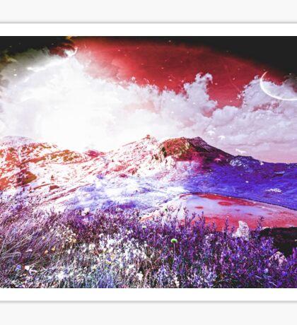 Starry Mountain Scene Sticker