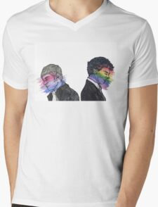 True Colors Sherlock and John Mens V-Neck T-Shirt