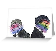 True Colors Sherlock and John Greeting Card
