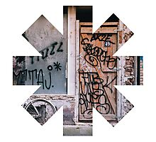 Red Hot Chili Peppers Graffiti Photographic Print