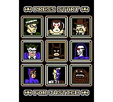 Press Start... For Justice! Photographic Print