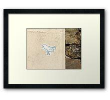Bird on the Wall Framed Print