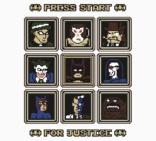 Press Start... For Justice! One Piece - Short Sleeve
