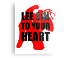 Lee Sin To Your Heart Metal Print