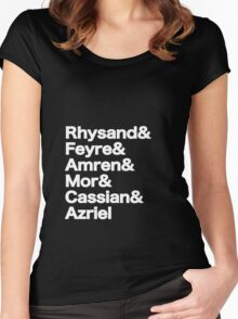 The Night Court Squad (black) Women's Fitted Scoop T-Shirt