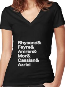 The Night Court Squad (black) Women's Fitted V-Neck T-Shirt