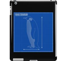 King Penguin Blueprint iPad Case/Skin
