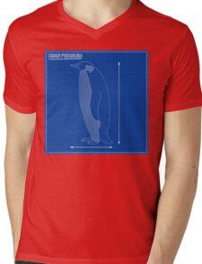 King Penguin Blueprint Mens V-Neck T-Shirt