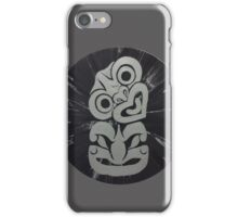 NZ Silver Tiki on Black (Tribal Maori) iPhone Case/Skin