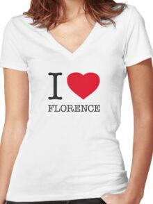 I ♥ FLORENCE Women's Fitted V-Neck T-Shirt