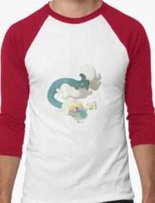 Drampa and Cutiefly Men's Baseball ¾ T-Shirt