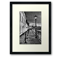Along The Walls Framed Print