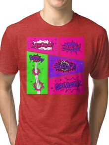 Bright and Colorful Comic Book Art Tri-blend T-Shirt