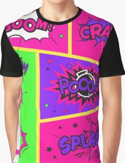 Bright and Colorful Comic Book Art Graphic T-Shirt