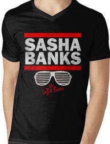 Sasha Banks Run DMC Mashup Vintage Mens V-Neck T-Shirt