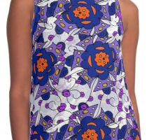 Abstract pattern with flowers Contrast Tank