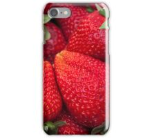 Color red strawberries iPhone Case/Skin