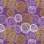 Purple Art Deco Rose Design by David Alexander Elder