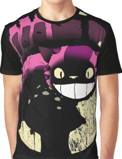 Tonari no Cheshire - Black Graphic T-Shirt