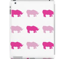 Seamless African Rhinoceros Background. Animal Pattern iPad Case/Skin
