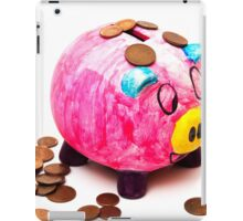 piggy bank with money iPad Case/Skin