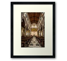 Nazareth, the altar at the upper level of the Church of St Joseph Framed Print