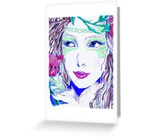 Fairy Girl in Blue Greeting Card